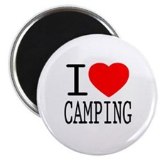 I Love | Heart Camping Magnet