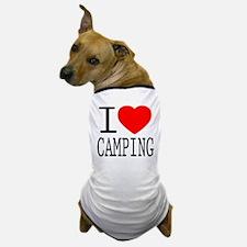 I Love | Heart Camping Dog T-Shirt