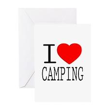 I Love | Heart Camping Greeting Card