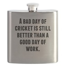 A Bad Day Of Cricket Flask
