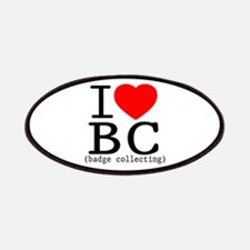 I Love | Heart BC - Badge Collecting Patches