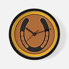 Southwest Lucky Horseshoe Wall Clock