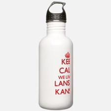 Keep calm we live in L Water Bottle