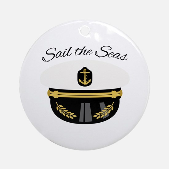 Sail The Seas Ornament (Round)