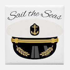 Sail The Seas Tile Coaster