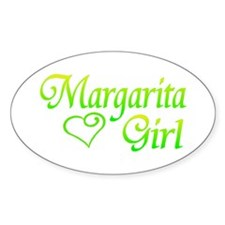 MARGARITA GIRL Oval Decal