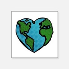 "Cute Tree of peace Square Sticker 3"" x 3"""