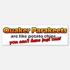 Potato Chips Quaker Parakeet Bumper Bumper Bumper Sticker