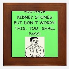 funny doctor joke Framed Tile