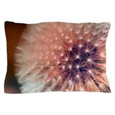 Cute Dandelion seeds blowing in the wind Pillow Case