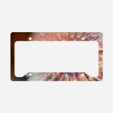 Funny Dandelion seeds blowing in the wind License Plate Holder
