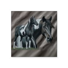 """Cute Tennessee walking horse Square Sticker 3"""" x 3"""""""