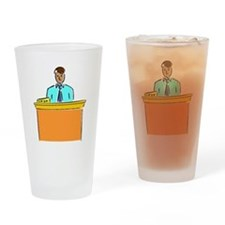 Bank Teller Drinking Glass