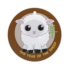 1919 Year of the Sheep Ornament (Round)