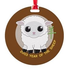 2003 Year of the Sheep Ornament