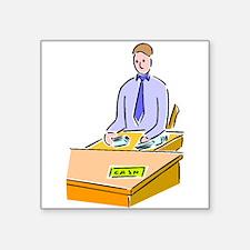 Bank Teller Sticker
