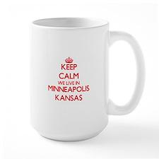 Keep calm we live in Minneapolis Kansas Mugs