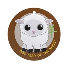1955 Year of the Sheep Ornament (Round)