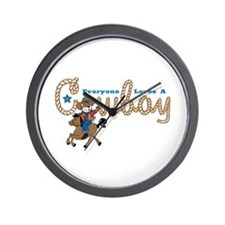 Loves A Cowboy KS Wall Clock