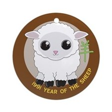 1991 Year of the Sheep Ornament (Round)