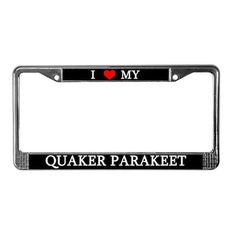 Love Quaker Parakeet License Plate Frame