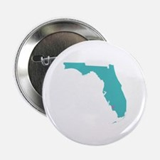 """Naples Florida State with heart 2.25"""" Button"""