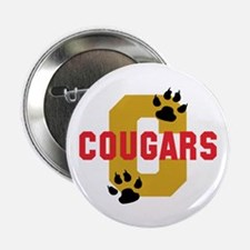 """C COUGARS 2.25"""" Button (10 pack)"""