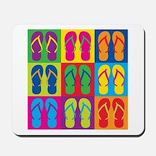 Pop Art Flip Flops Mousepad