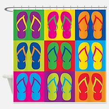 Pop Art Flip Flops Shower Curtain
