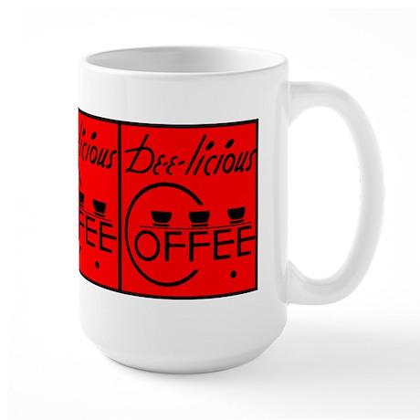 Large Mug with Vintage Coffee Ad