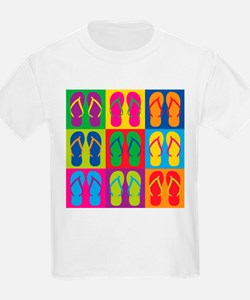 Pop Art Flip Flops T-Shirt