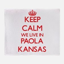 Keep calm we live in Paola Kansas Throw Blanket