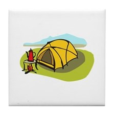 CAMPING TENT Tile Coaster
