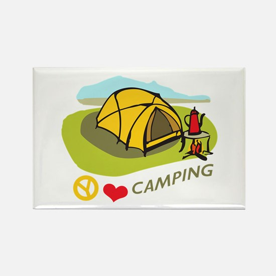 PEACE LOVE CAMPING Magnets