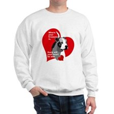 where your treasure is, there your hear Sweatshirt