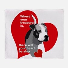 where your treasure is, there your h Throw Blanket