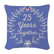 25th anniversary wreath Woven Throw Pillow