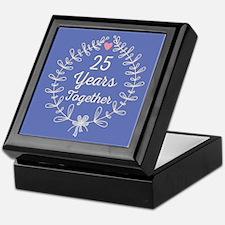25th anniversary wreath Keepsake Box