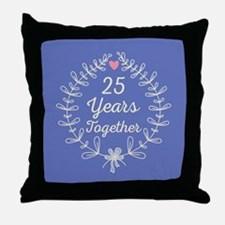 25th anniversary wreath Throw Pillow