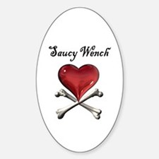Saucy Wench Heart Oval Decal