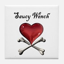 Saucy Wench Heart Tile Coaster