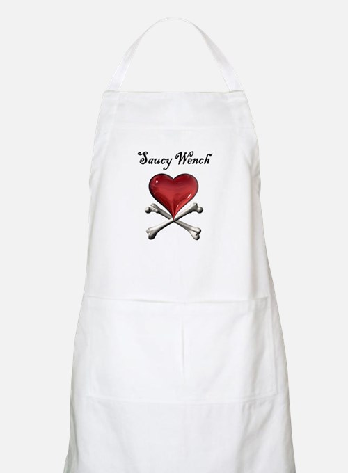 Saucy Wench Heart BBQ Apron