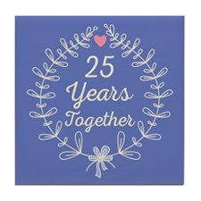 25th anniversary wreath Tile Coaster