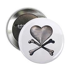 Antique Pirate Heart Button