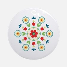 Scandinavian Swedish Floral Flowers Mandala Orname