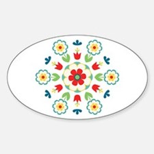 Scandinavian Swedish Floral Flowers Mandala Sticke