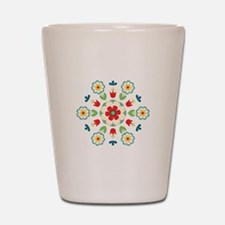 Scandinavian Swedish Floral Flowers Mandala Shot G