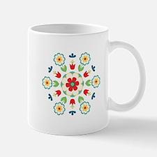 Scandinavian Swedish Floral Flowers Mandala Mugs
