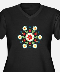 Scandinavian Swedish Floral Flowers Mandala Plus S