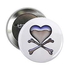 Chrome Pirate Heart Button
